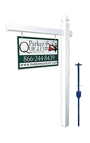 Vinyl PVC Real Estate Sign Post - White - 6' Tall Post White 47