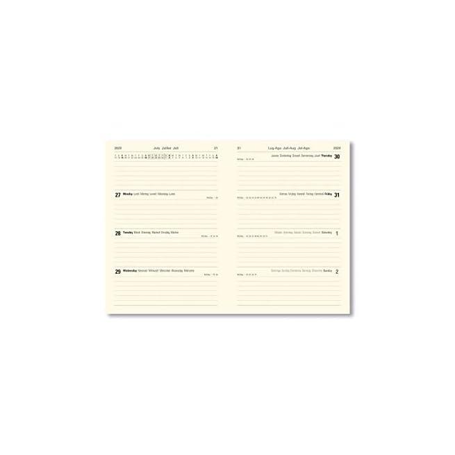 con visualizzazione settimanale Letts Agenda scolastica formato A6 colore: Blu 20//21