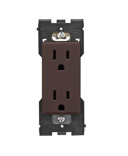 125 Walnut (Leviton RER15-WB Renu Tamper-Resistant Outlet, 15-Amp, 125VAC, Walnut)