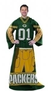 Green Bay Packers Blanket With Sleeves UNIFORM Comfy Throw -
