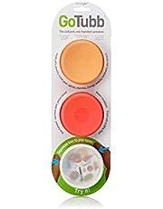 Humangear GoTubb 3-Pack Medium (2oz) Clear/Orange/Red