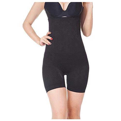 OFEFAN Womens Shapewear Tummy Control Shorts Brilliance High-Waist Panty Mid-Thigh Body Shaper Bodysuit ()