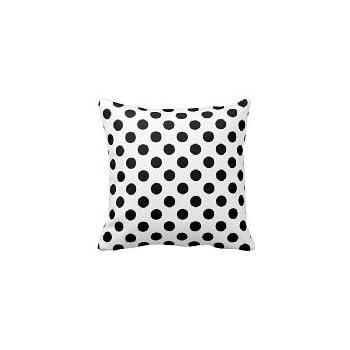 b lyster shop black white polka dot cotton u0026 polyester soft zippered cushion throw case pillow