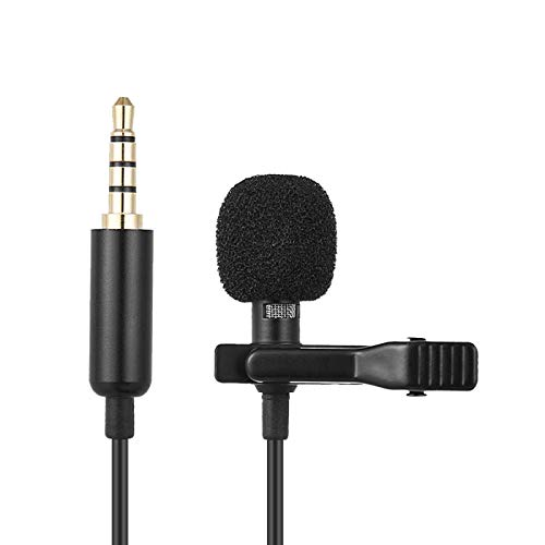 Lavalier microphone voice professional grade easy-to-edit omnidirectional condenser microphone, perfect recording YouTube/interview/video conference/live/dictation/Suitable for iPhone/Android