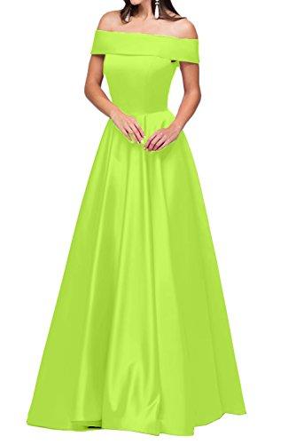 U abito del partito ivyd linea ressing abito della Damen a Fest Satin vestito sera da lungo Modern Scollo a abito salvia Prom BXU7w