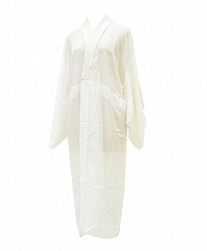 (着物ひととき) 長襦袢 中古 リサイクル 女性 化繊 洗える 白 花文様 裄61.5cm ながじゅばん 白系 裄Sサイズ ll1710b