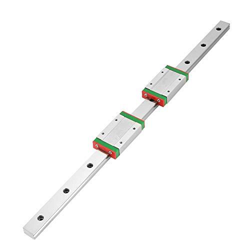 Akozon LML15H Linearführungsschiene 400mm Länge mit 2-teiligem Erweiterungs-Gleitblock