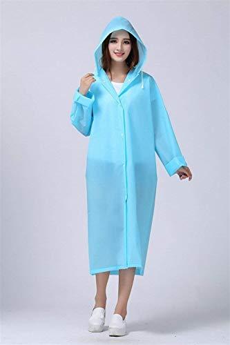 Blau Emmay Poncho Vêtements Pluie Extérieur Monochrome De Style Bicyclette Unisexe Fête Capuchon Imperméable R6qOwR