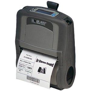 Zebra QL 420 Plus Direct Thermal Printer - Monochrome - Mobile - Receipt Print. QL420 DT/LP 4IN 8/16MB LCD 80211B/G LP BP-LB. 3 in/s Mono - 203dpi - Wi-Fi - USB - Battery Include - LCD