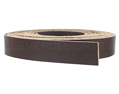 Wholesale Leather Belt Straps - CleverDelights Premium Cowhide Leather Strap - Dark Brown - 1