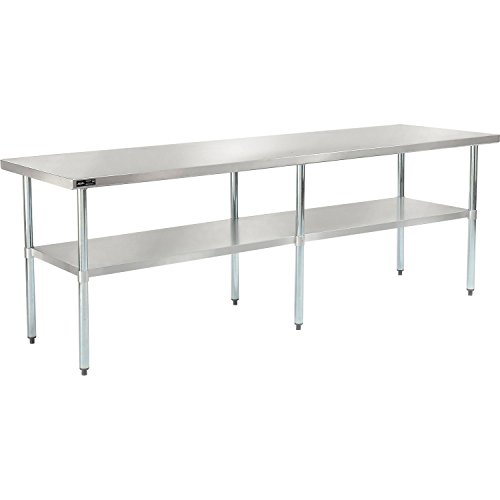 Nexel WB9630SS Stainless Steel Worktable with Under Shelf, 96