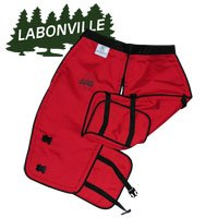 Labonville Full-Wrap Chainsaw Safety Chaps - Orange Large