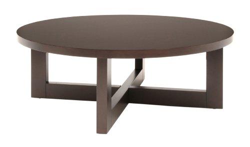 Amazon Com Regency Chloe 37 Inch Round Coffee Table Mocha Walnut Kitchen Dining