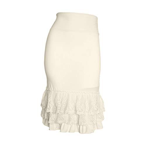 - Peekaboo-Chic Classy vs Sassy Half Slip Skirt Extender - Plus Size Lace Slip Extender - Skirt Extenders for Women - 1X Cream