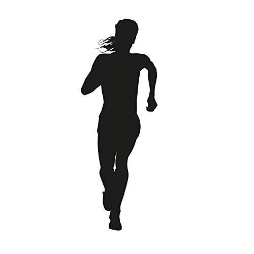 (Wallmonkeys FOT-76164562-18 WM321808 Silhouette of a Woman Running Long Distance Peel and Stick Wall Decals H x 18 in W, 18