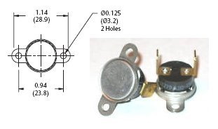 Fireplace Blower Thermostat Temperature Switch Fan Gas