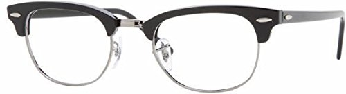 Ray-Ban Unisex RX5154 Eyeglasses Shiny Black 49mm by Ray-Ban
