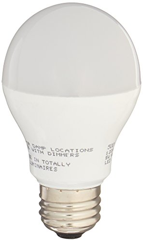 Miracle LED 604010 5-Watt Rough Service Garage Door Led Bulbs, A17, Long Life Energy Saver Bulb, Cool White, 6-Pack, by MiracleLED