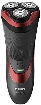 Philips SHAVER Series 3000 S3580/06 - Afeitadora (Máquina de afeitar de rotación, SH30, 1 año(s), Negro, Rojo, Batería, Ión de litio)