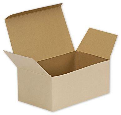 Natural Kraft Stackable Meal Boxes, 8 x 4 7/8 x 3 1/2'' (100 Boxes) - BOWS-BXNATSM