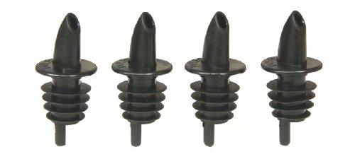 Pouring Spout - TableCraft H35BK Free Flow Pourers, Black, 12-Pack