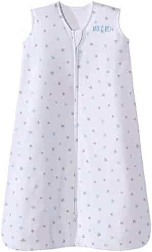 Halo Sleepsack Cotton Wearable Blanket, Blue Stars, Medium