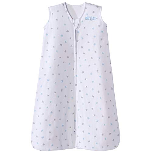 Halo Sleepsack Cotton Wearable Blanket, Blue