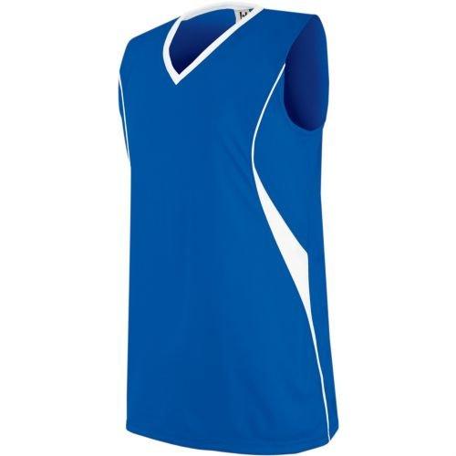 Side Piping Décor - Women's/Girls Athletic Sports Jersey Moisture Management, V-Neck Sleeveless Shirt (Uniform Softball, Soccer, Volleyball)