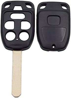 WBOY Uncut Blank Remote Key Shell Replacement Compatible With Honda Odyssey Keyless Entry Case Fob 6 Buttons No Chips