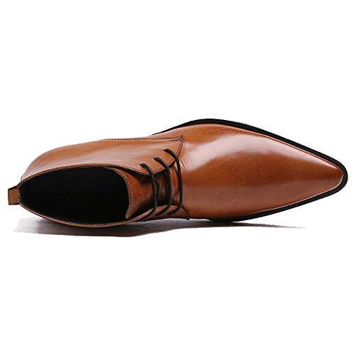 Moda Moda Alte A Stivaletti Black Scarpe Inghilterra Lavoro Punta Antiscivolo Scarpe da Impermeabile 58q0qIn