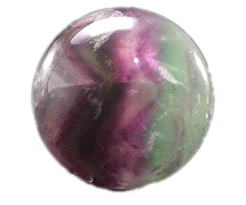 yippee Rainbow Tats Flower Fluorite Sphere/Purple Fluorite Ball/Colorful Rocks/Healing Stone/Calming/Reiki/Chakra/Zen -