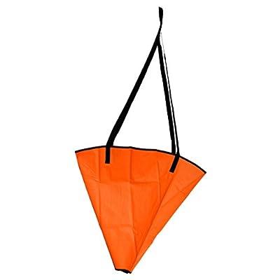 "Jili Online PVC 32"" Sea Anchor Drogue Drift Chute Brake Sock Suit up to 20ft Marine Inflatable Boat Yacht Sailing Dinghy Kayak"