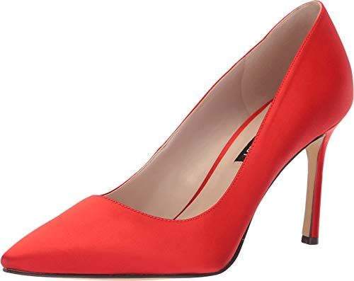 Nine West Women's Emmala Pump Red Satin 6 M US M - Nine West Satin Heels