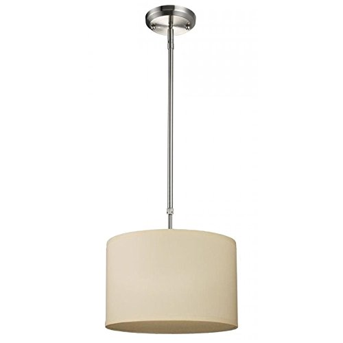 Albion 1 Light Pendant - Z-Lite Albion 1 Light Pendant in Brushed Nickel