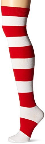 Red and White Striped Socks for Wenda Costume