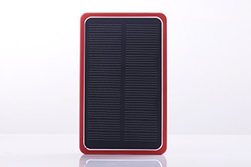 Solar Phone Charger- Borch Solar Phone Charger with Backup Battery | Provides 4000mah Backup Power, Safety and Convenience | Ideal for Cell Phones, Smartphones and Mobile Devices | This Portable External Battery Is Delivered | Solar Charger with Power Ban by Borch