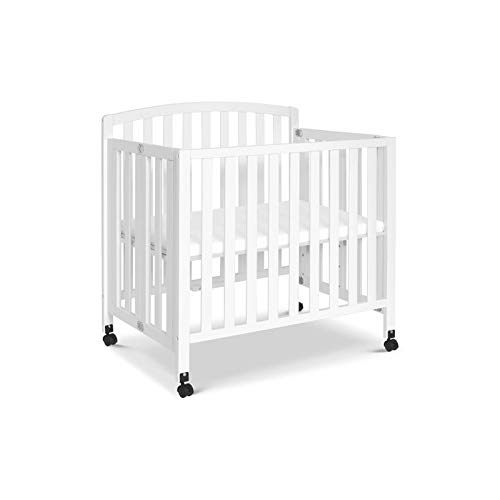 DaVinci Dylan Folding Portable 3-in-1 Mini Crib and Twin Bed in White | Greenguard Gold Certified by DaVinci
