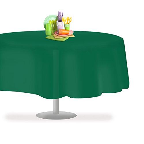 Dark Green 6 Pack Premium Disposable Plastic Tablecloth 84
