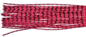 Archery ZEBRA WHISKER RUBBER BOWSTRING BOW STRING SILENCERS 4 Pc. Pack - NEW HOT COLORS ! (Pink-Black)