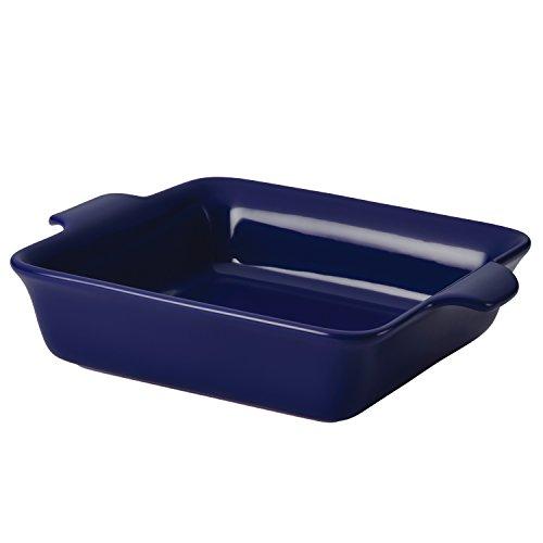 Anolon Vesta Ceramics 9-Inch Square Baker, Cobalt Blue Bakeware Cobalt Rectangular Baking Dish