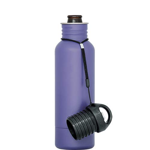 BottleKeeper - The Standard 2.0 - The Original Stainless Steel Bottle Holder and Insulator to Keep Your Beer Colder (Purple) - Stainless Bottle Better