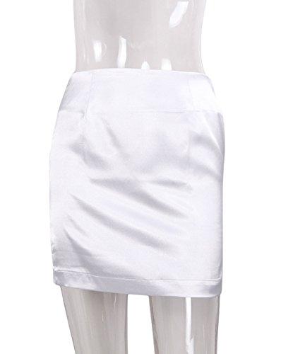 Sexy Hanche Femme Couleur Haute Mini Moulante Party JackenLOVE Jupe Blanc Unie de t Package Jupes Taille Fashion EXwU1q