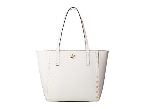 - Michael Kors Womens Rivington Studded Medium Tote Bag (Optic White)