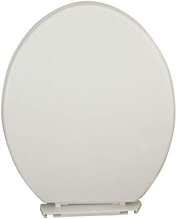 丸便座細長い長方形のWCシートプラスチックパッド入りのトイレボウルふたソフトクローズクイックリリース簡単に洗浄プレミアムトイレはホワイトカバー (Size : (410-435)×365MM)