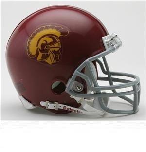 (NCAA Riddell USC Trojans Cardinal Mini Replica Helmet)