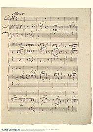 Hal Leonard Franz Schubert Music Manuscript Poster Henle Music Folios Series by Franz ()