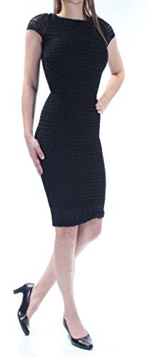 Bar III Womens Crocheted-Lace Sheath Cocktail Dress Black - Crocheted Xxs
