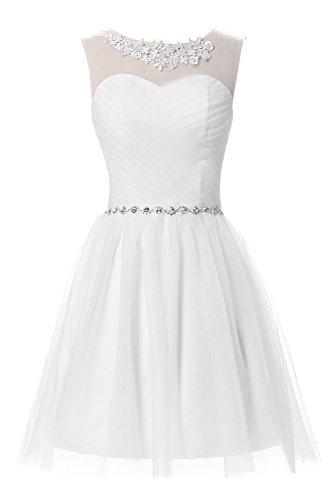 Erosebridal - Vestido - Noche - para mujer blanco