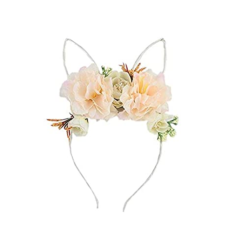 Ppzmd Headwears Diadema para niña con Corona de Flores y ...