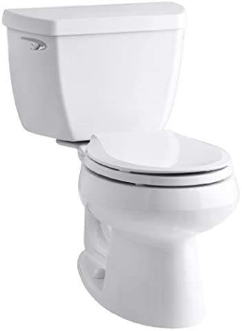 Kohler K-3577-T-0 Wellworth Classic 1.28gpf Round-Front Toilet with Class Five Flushing Technology and Left-Hand Trip Lever with Tank Locks, - Kohler Class Five Flushing System